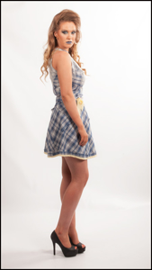 Picture of Check Wrap skirt