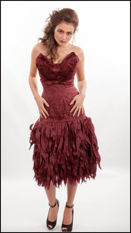 Picture of wine edge cocktail dress