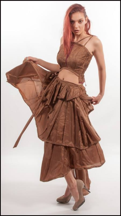 Picture of Pleat laced strap top